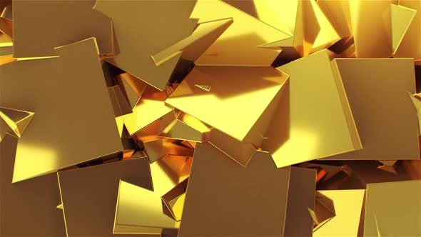 Abstract Golden Boxes