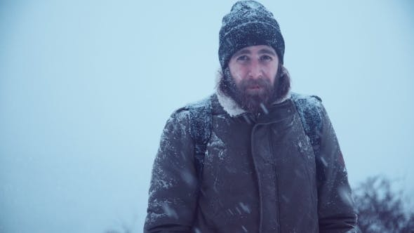 Cover Image for Smiling Man with Beard in Snow