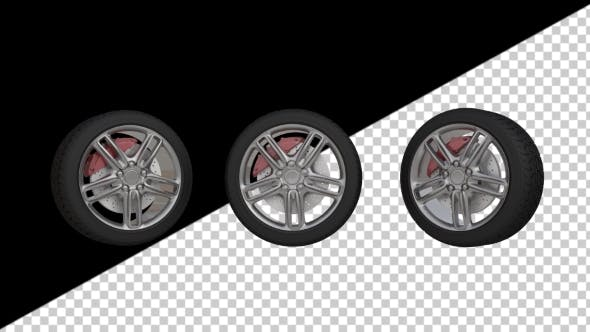 Thumbnail for Animation of Automobile Wheels with Alpha Channel