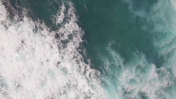 Thumbnail for Flying Over Ocean with Big Foamy Waves