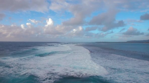 Thumbnail for Seascape with Foamy Waves of Blue Indian Ocean, Aerial View