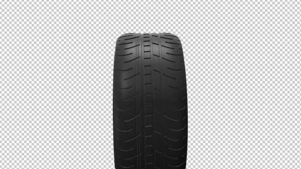 Thumbnail for Black Isolation Rubber Tire, on the White Backgrounds