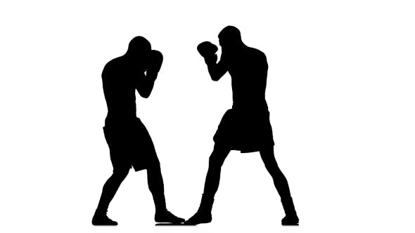 Thumbnail for Boxing. Avoiding a Direct Blow To the Head. Silhouette