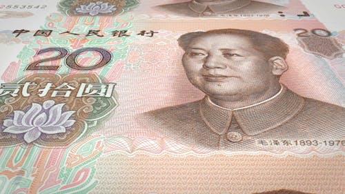 Banknotes of Twenty Renminbi Yuan Chinese