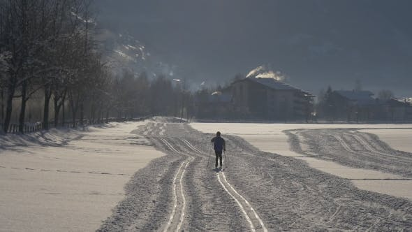 Thumbnail for Skier Cross-country Skiing