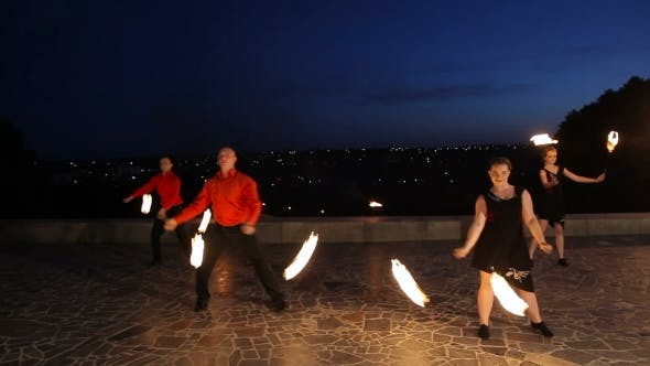 Thumbnail for Fire Show in the Night