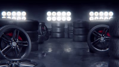 Sport Tires on a Race Track