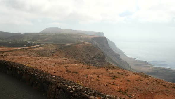 Thumbnail for Driving Near Mirador Del Rio on Lanzarote Island, Canary Islands, Spain, Europe.