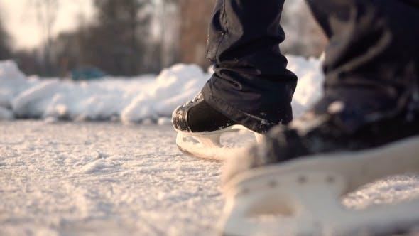 Thumbnail for Amateur Ice Skater on Frozen Lake