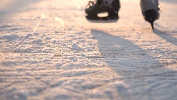 Thumbnail for Kids Ice Skating on Frozen Lake
