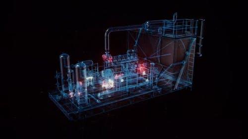 The Industrial Compressor Hud Hologram 4k