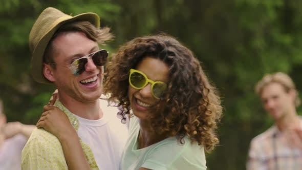 Thumbnail for Cheerful Young Man and Woman Having Fun Together, Happy Couple on Summer Date