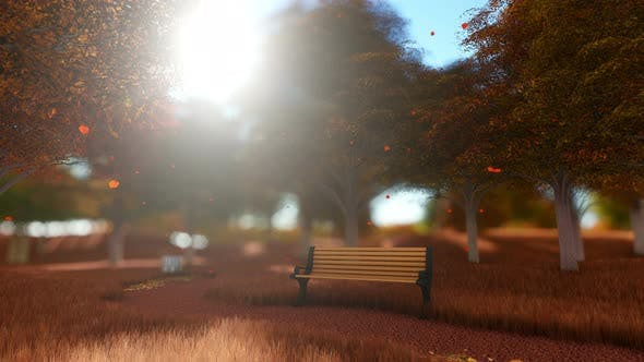 Thumbnail for Empty Bench In The Autumnal Park