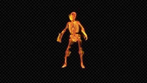 Fiery Skeleton Upbeat Dance