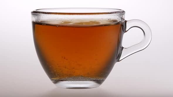 Thumbnail for Spoon Stir Sugar in Black Tea. Slow Motion