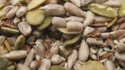 Close Up of Shelled Seeds. Seeds Background