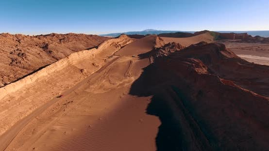 Thumbnail for Aerial View Over the Road in World's Most Arid Desert - Atakama. Moon Valley. Chile