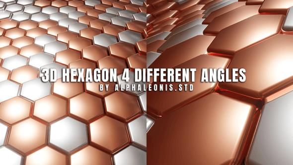Thumbnail for Hexagon 3D Clean Two Tone