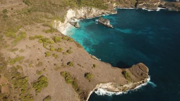 Thumbnail for Cliffs, Sea and Waves at Nusa Penida, Bali, Indonesia