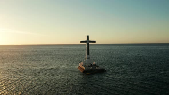 Thumbnail for Sunken Cemetery Cross in Camiguin Island, Philippines.
