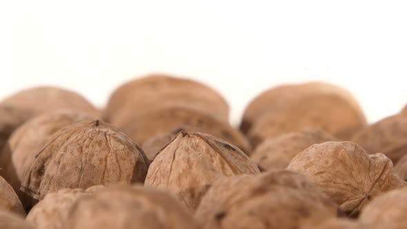 Thumbnail for A Lot of Walnuts, on White, Rotation, Close Up