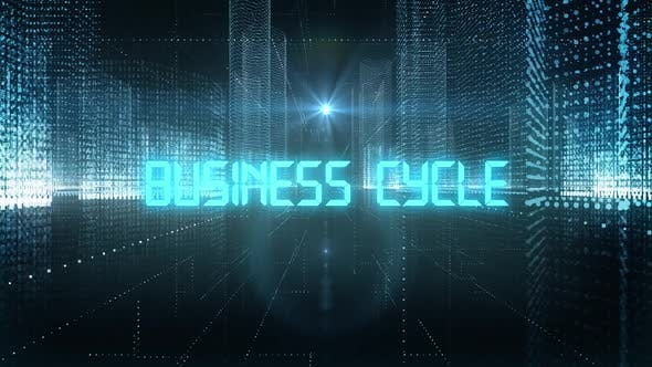 Skyscrapers Digital City Tech Word Business Cycle