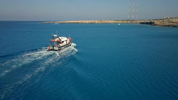 Thumbnail for Pleasure Boat on Sea Waves