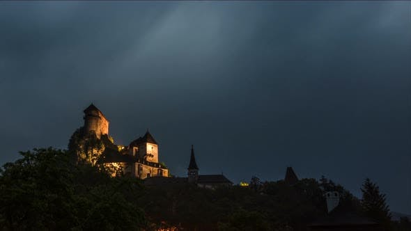 Thumbnail for Dramatic Storm over Dracula Caslte