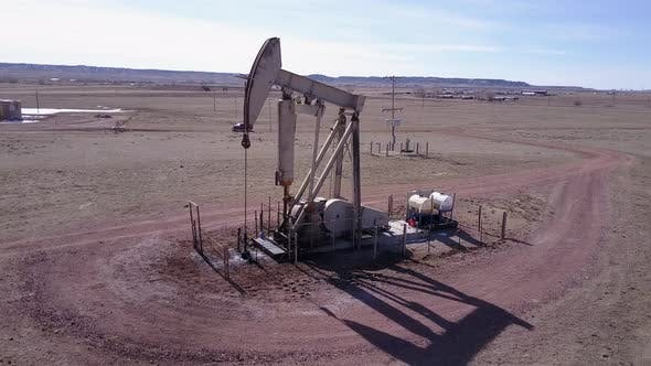 Thumbnail for Land Use Gillette in Spring Pumpjack Pump Jack Well Drill Gas Oil Extraction Oil Field