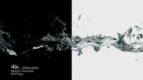 Thumbnail for Water Wave Splash 4K