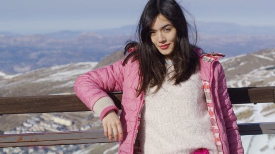 Thumbnail for Attractive Young Woman on Ski Holiday