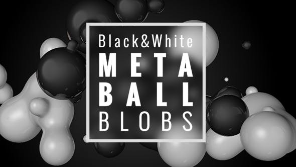 Thumbnail for Black and White Metaball Blobs Pack