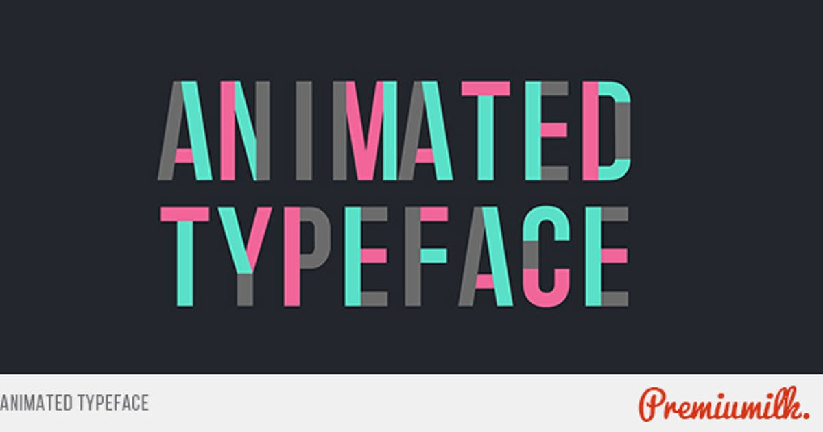 Download Animated Typeface by Premiumilk