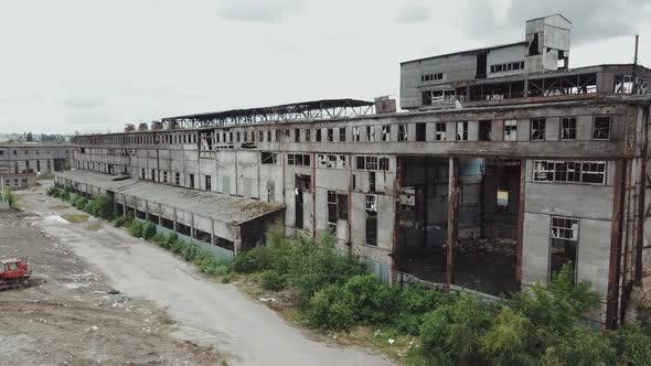 Thumbnail for Abandoned Ruined Industrial Factory Building