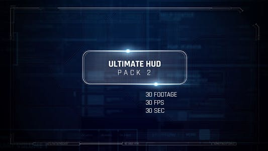 Thumbnail for 30 Footage HUD Pack/ Dron Ui Future Space/ Cyber Screens/ Iron Man Interface/ Sci-fi Technology Tool