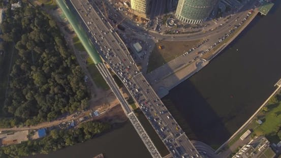 Thumbnail for Business Center Moscow City, Aerial Photography on the Drone.