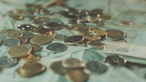 Polnische Zloty Banknoten. Rotierende Banknoten