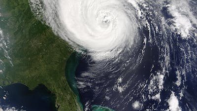 Hurricane From Space on Earth