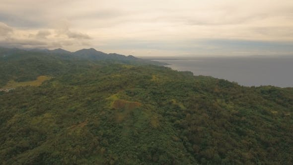 Thumbnail for Seascape with Tropical Island, Beach, Rocks and Waves. Catanduanes, Philippines.