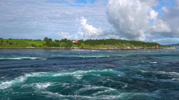Thumbnail for Whirlpools of the Maelstrom of Saltstraumen, Nordland, Norway