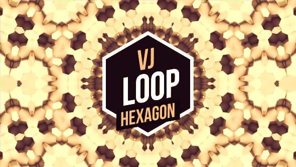 Gold Hexagons Vj