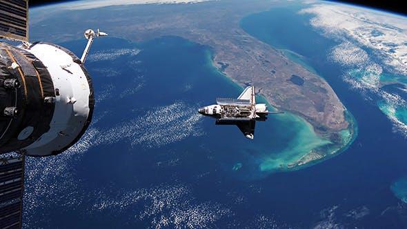 Thumbnail for Space Shuttle Orbiting Earth
