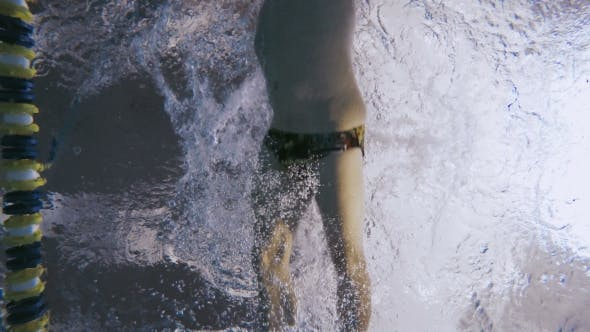 Thumbnail for Underwater - the Sportsman Training the Breaststroke in the Swimming Pool