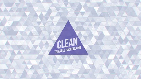 Thumbnail for Clean White Triangles Background Loop