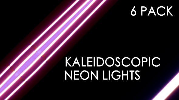Neon Kaleidoscope Lights - 6 Pack