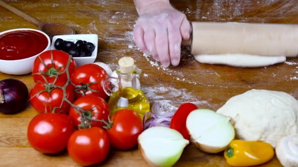Thumbnail for Prepearing Dough for Homemade Pizza