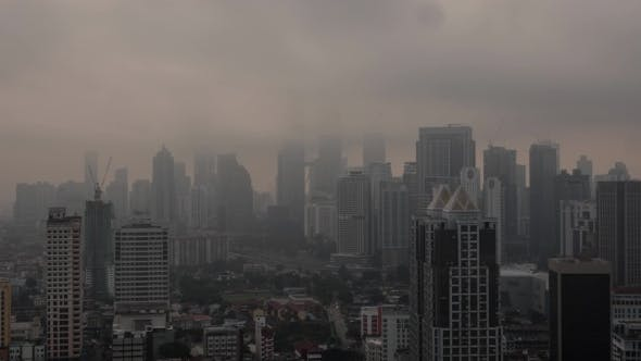 Thumbnail for View of Cityscape with a Lot of Skyscrapers, Constructed Buildings Against Clouds. Kuala Lumpur