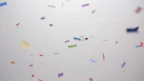 Thumbnail for Confetti Falling Over White Background 4