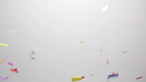 Thumbnail for Confetti Falling Over White Background 6