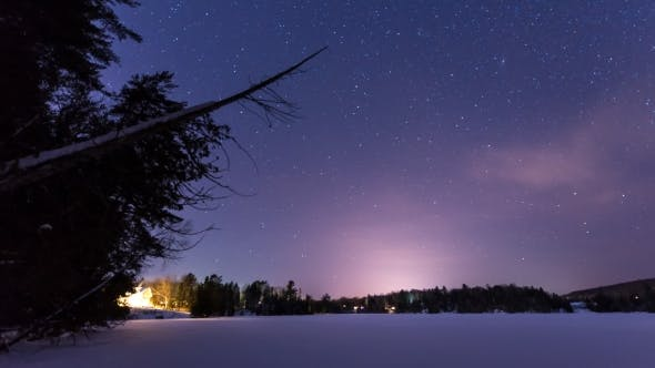 Thumbnail for Stars Over Rozen Lake with Tree